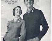 Men and Ladies Knitting Patterns,  Sweater, cardigan patterns - 7 Patterns - Patons No. 416