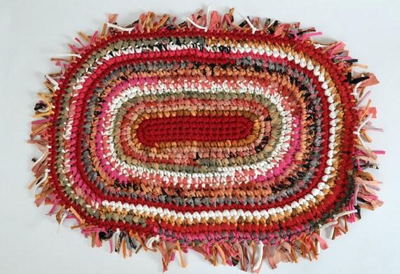 Sale --- Oval Rag Rug --- Indian Summer --- Photo Prop --- Changing Mat --- Pet Mat