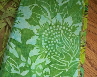 Batik Quilters Fabric- Spring Greens
