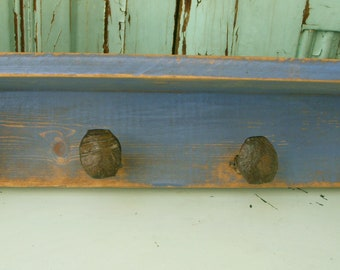 Rustic Shelf, Railroad - Spikes, Handmade - 28 inch shelf - 4 spikes - Original Railroad Shelf
