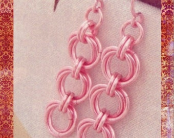 Linked Loops II Earring Kits - 1 Pair in Your Choice of Colors - Eyecatching Chainmaille