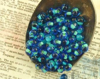 Mint Green Lined Sapphire Drop Beads 3mm X 4mm Miyuki Fringe