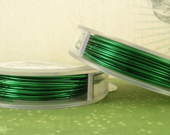 Green Artistic Wire - Permanently Colored - You Pick Gauge 10, 12, 14, 16, 18, 20, 22, 24, 26, 28, 30 – 100% Guarantee