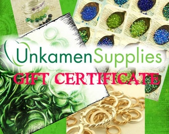 25% Off Gift Certificate for UnkamenSupplies - Great for Gift Giving for the Creative Jewelry Maker