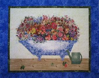 Flower Bath II  Watercolor Quilt Fabric Kit