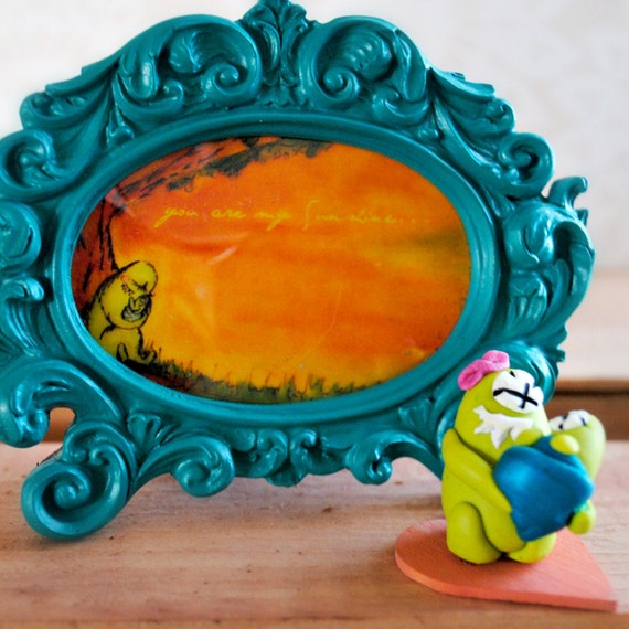 Miniature Framed Art, Nursery Decor, You are my Sunshine mini