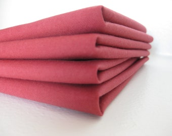 Cloth Napkins - Brick Red - 100% Cotton