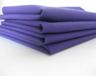 Cloth Napkins - Royal Purple - 100% Cotton