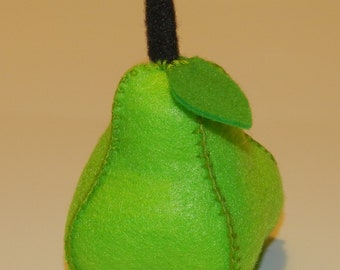 Handmade Felt Food - Green Pear - Fruit