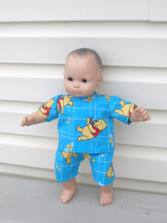 Doll Clothes for Bitty Baby or Bitty Twin Baby Dolls, My Favorite Teddy Bear Pajamas