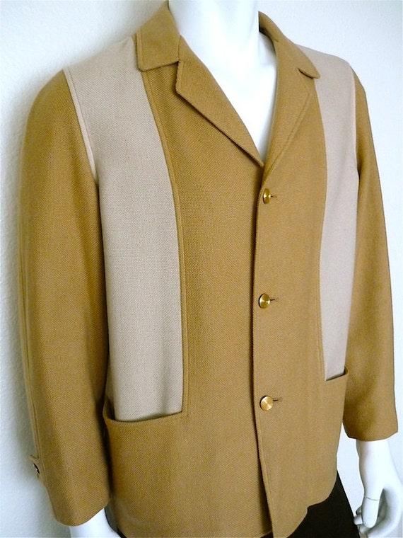 Vintage Apparel Men's 60's Pendleton, Wool Jacket, Tan, Button Up 5053 FreshandSwanky on Etsy