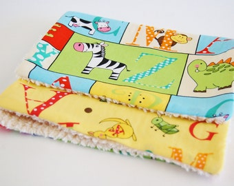 Burp Cloths - Alphabet Friends (set of 2)