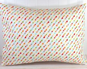 Throw Pillow Cover, Decorative Pillow Cover, Rainbow Nursery Decor, Travel Pillow Cover, Lumbar Pillow, 12 x 16 Inches, Rainbow Bunting Flag
