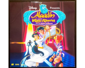 Glittered Vintage Alladin Disney Album