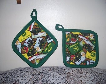 2 John Deere Pot Holders