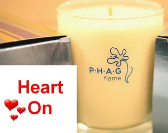 PHAG flame Premium Soy Candle- Heart On