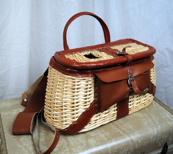 Woven Fishing Basket Case
