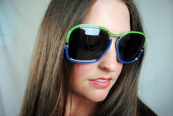 Vintage Retro Oversized Sunglasses - Made in Austria