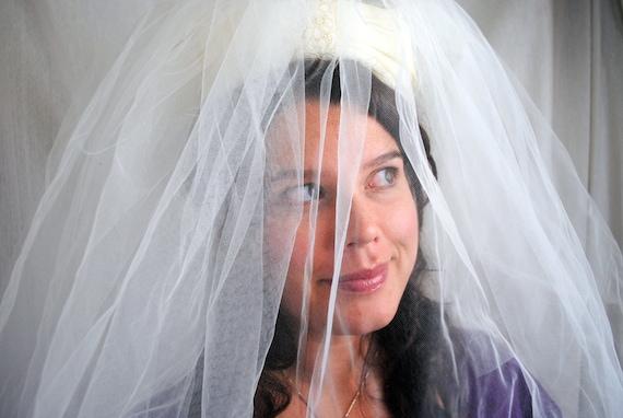 Vintage Wedding Crown Veil Headpiece