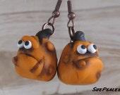Grumpy Pumpkings, Thanksgiving Earrings, Halloween Earrings, Autumn Jewels, Halloween, Kids Earrings, Funny Earrings, Pumpkin Heads
