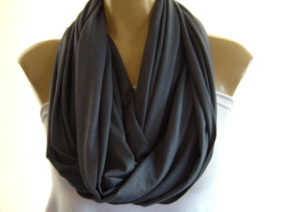 Steel Blue...Blue gray.... Nomad Cowl.....Infinity Scarf..Relaxed version..Super soft.