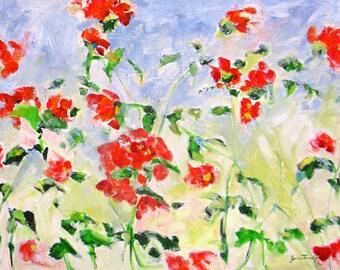 large abstract art, original oil painting, impasto art, impressionism art, abstract painting, wall decor, Janice Trane Jones