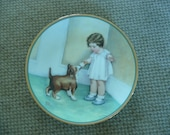 VINTAGE PORCELAIN COLLECTOR'S Plate - Titled: 'The Reward'