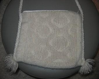 Boho, Hippie, woven bag, handbag, purse, tote. Unique White bag.