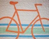 Modern Organic Bicycle Crib/Toddler Quilt