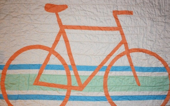 Modern Organic Bicycle Crib/Toddler Quilt
