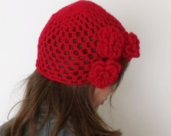 Mohair Red Hat -Ready For Shipping-Fall Fashion