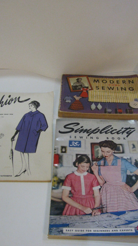 Reserved for thoravintage Vintage Sewing Fashion Books - 3 - 50s 1950s and 60s 1960s - Sewing and Fashion Books