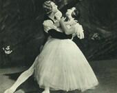 1950, Tamara Toumanova, Igor Youskevitch, Giselle, Drury Lane Theatre, Baller Dancer, Romantic Ballet, Black & White Ballerina Print 35