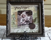 Cherish Vintage Photo Framed Canvas