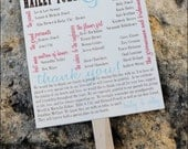 Printable Rustic Wedding Program