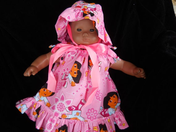 Dora hat and Pillowcase Dress for Bitty Baby