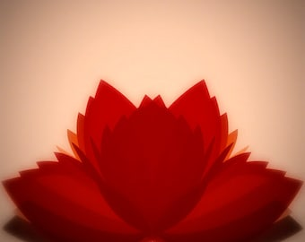 red lotus   MODERN ART PRINT