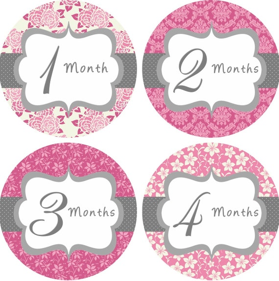 Planners Calligraphy Erasers & Sharpeners Gift Wrapping Greeting Cards ...: etsy.com/listing/115341479/baby-month-stickers-baby-girl-monthly