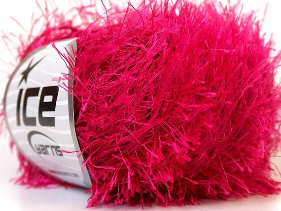 Eyelash Yarn : fun fur eyelash yarn pink bulky chunky 50gr polyester ice yarns ...