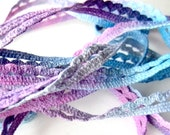 Hand Dyed Cotton Lace in Lavender Blue