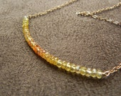 Ombre Yellow Sapphire and 14kt Gold Filled Color Block Necklace