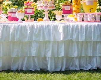 Ruffled Tablecloth