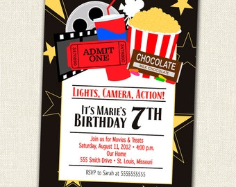 Lights, Camera, Action It Time For A Movie Birthday Party
