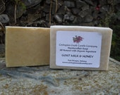 Goat Milk, Honey and Oatmeal Soap.  Organic and Natural Exfolating Handcrafted,Cold Processed