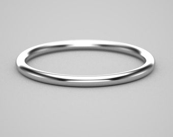 18k womans gold round wire 15 ga 1.5mm ring
