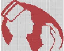 Pediatric Nurse Logo Cross Stitch Printed Pattern