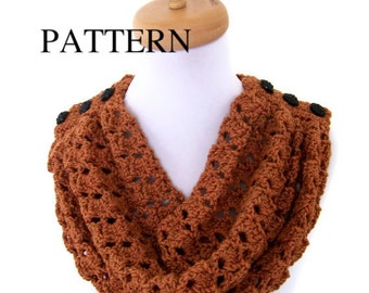 Crochet Cowl Pattern - Crochet Pattern Lacy Cowl - Easy Crochet Pattern - Women Accessories, INSTANT DOWNLOAD - No. 33