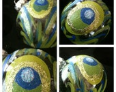 Hand Painted Peacock Ornament