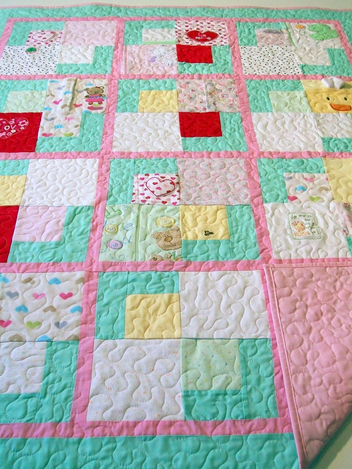 Reserved For Natalie R Onesie Quilt Lap Size 58 X
