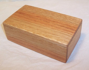 Handcrafted Reclaimed Oak Wood Box